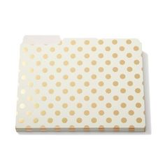 Kate Spade gold dot folders available at Note Worthy!