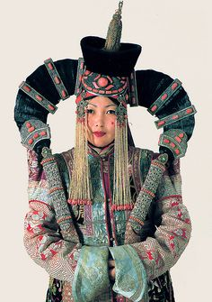 A Woman in a Khalkha Ethnic Costume - Mongolia