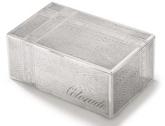 A large Russian silver trompe l'oeil table cigar box, Alexander Lyubavin, St. Petersburg, 1885.