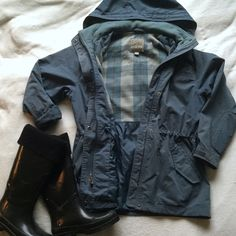 Vintage Pacific Trail Anorak Coat True vintage anorak coat by Pacific Trail. Lovely grey-blue color, and has a drawstring at the waist for a flattering fit. ⭐️coat only, boots listed separately⭐️ Vintage Jackets & Coats