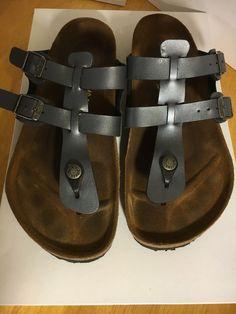 Birkenstock Sparta Size 40 USA 9-9.5 Birko-Flor Thong Sandals Slides Germany…