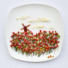 Kunst auf dem Teller: Food Art: Und mit Essen spielt man doch! | Panorama- Hamburger Morgenpost