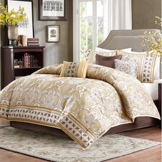Madison Park Chapman 7 Piece Comforter Set & Reviews | Wayfair