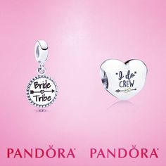 New bridal party charms what a great way for your friends to celebrate your special day! #bridetribe #Pandora #bridalcrew #bridesmaids #bride #nobridezillahere #friends #friendship #celebration #celebrate
