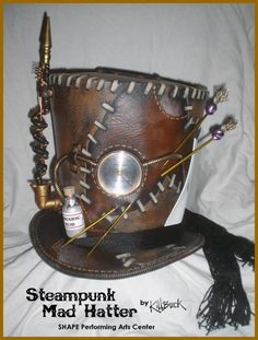 Mad HatterShape Performing Arts steampunk hat by killbuck on Etsy