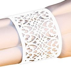 20 FILIGREE Laser Lace Paper Napkin Rings Holders for Wedding & Party. $10.00, via Etsy.
