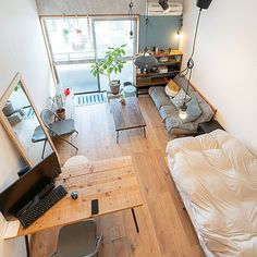 Study Room Decor, Room Setup, Room Design Bedroom, Room Ideas Bedroom, Studio Apartment Decorating, Apartment Interior, House Layout Plans, Interior Architecture, Interior Design