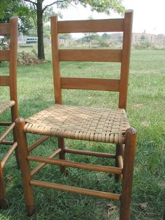 Ladder Back Cane Bottom Chair Chairs Redo Seat Old