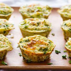 Quinoa and Broccoli Egg Muffins HealthyAperture.com