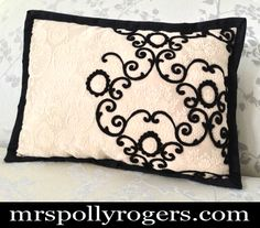 Click here to DIY Needle Felt on Old Pillows to Upgrade.  Learn in 5 Seconds!  Blog & Video from MrsPollyRogers.com