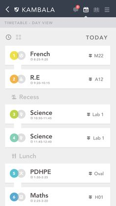 Timetable UI
