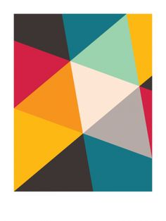 Tilting Triangles (2010) // Geometric Art by Gary Andrew Clarke