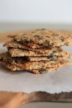 """Knækbrød or Danish crackers with seeds - recipe """"Knækbrød or Danish crackers with seeds"""", for the aperitif to go with the soup for small n - Healthy Cooking, Healthy Snacks, Cooking Recipes, Scandinavian Food, Low Calorie Snacks, Galletas Cookies, Vegan Kitchen, Food Inspiration, Quiche"""