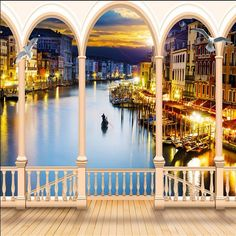 ==> [Free Shipping] Buy Best beibehang photo wallpaper Italian art scene in Venice magnificent night view living room sofa back ground frescoes fotobehang Online with LOWEST Price | 32796360016