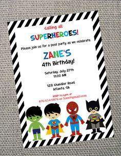 Superhero+Printable+Birthday+Invitation+by+cohenlane+on+Etsy,+$8.00