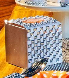 Rhinestone Favor Box | Wedding Favor Ideas from David Tutera | DIY Favor Box from @Jo-Ann Fabric and Craft Stores
