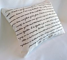 Jane Eyre Pillow, Unique Charlotte Bronte Literary Gift