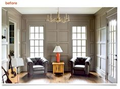 Love this panels/moulding in this room.  #moulding, #panels