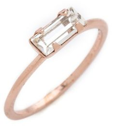 bing images of rings | Bing Bang Tiny Baguette Ring in Gold (pink) - Lyst
