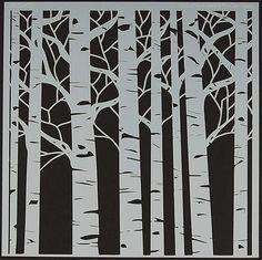 "12""x12"" Birch Tree Template (4004888)"