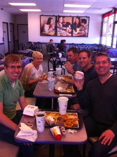 The whole Plink group at Burger King in Denver, CO earning Facebook Credits!