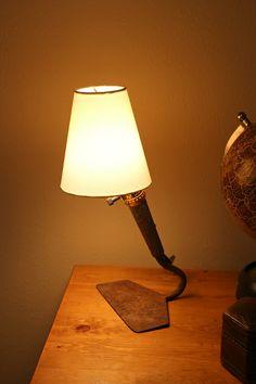 Trash To Treasure old hoe turned lamp