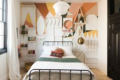 It's A Small World Bedroom Makeover Reveal! • Vintage Revivals | this wall is SO amazing!!! So creative!!