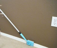 Baseboard Buddy; it cleans your baseboards easily without bending and stooping (saving your knees and back). It also cleans the tops of your door moldings without need for a ladder. The pad material was chosen for its durability and its ability to clean without piling or scratching. $19.99