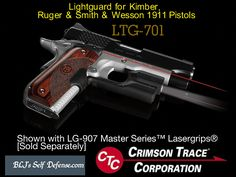 Lightguard for 1911 Pistols     Kimber and Smith & Wesson 1911 Full-Size, Commander and Bobtail w/o Accessory Rail  LTG-701   Weapon-Mounted Tactical Light for Kimber and Smith & Wesson 1911 Pistols       Lightguard™ for 1911 Pistols features a highly compact and slim design specifically for ease of holstering. Its 100 lumen tacticalLoading that magazine is a pain! Get your Magazine speedloader today! http://www.amazon.com/shops/raeind