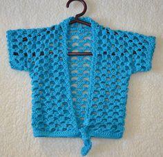 Crochet pattern : lace-vest for girls