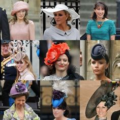 A montage of royal milinary from Kate and William's wedding