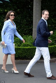 Lord Frederick Windsor and Lady Sophie smiled for the cameras