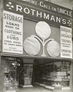 Rothman's Pawn Shop, 149 Eighth Avenue, 1938 #Pawnshop #PawnShopChronicles