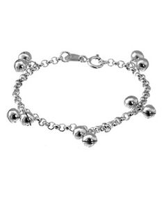 Tressa Toddler Sterling Silver Jingle Bracelet