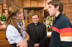 """Donning a clerical collar, Robin Williams played the part of Reverend Frank in the romantic comedy """"License to Wed"""" opposite Mandy Moore and John Krasinski in 2007."""