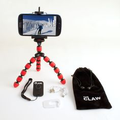 The CLAW -Best Flexible Travel Tripod,Cellphone Mount & USB Rechargeable Bluetooth Remote for iPhone 4,5,5s,6, Galaxy S2,3,4&5 etc,Compact,Bendable,Camera,GoPro Video,Facetime,Skype,Webcam & Selfies