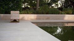 Sound and Architecture integration. Cube in classic travertine, omnidirectional sound module designed by Vladimir Djurovic for Architettura Sonora Travertine, Swimming Pools, Cube, Exterior, Wood, Project 4, Outdoor Decor, Taiwan, Speakers