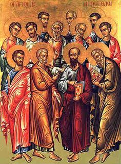 Four Church Fathers On The Manly Power Of Beards.  In this painting, only the youngest Apostle, Saint John, was depicted without a beard.