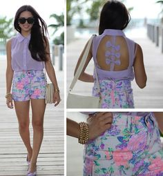 Bows, florals, and pretty colors (by Daniela Ramirez) http://lookbook.nu/look/4029418-Bows-florals-and-pretty-colors