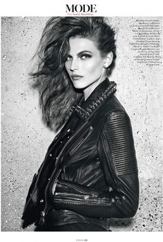 Mode. Leather jacket