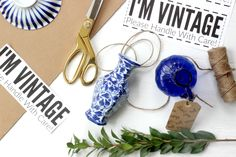 """Good Tips For Shipping Vintage & Fragile Items. Plus A Free Printable For A Cute """"FRAGILE"""" sticker that won't go un-noticed!"""