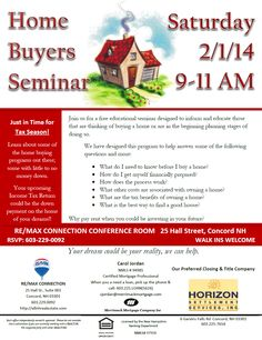 Realestate homebuyer seminar flyer design branding for First time home buyers maine