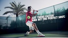 """""""My game is a lot about footwork. If I move well, I play well."""" - Roger #Federer"""