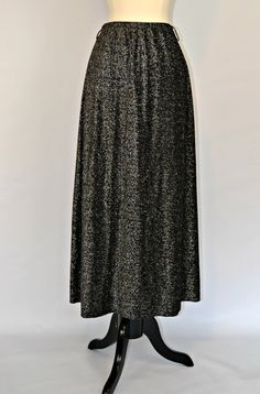 1960s Black and Silver Metallic Lurex Maxi by KrisVintageClothing, $35.00