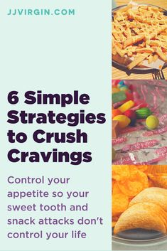 """Eating """"healthy"""" is often the fastest way to pack on pounds! Learn 6 straightforward strategies to crush cravings and bust common weight loss myths. Find out more about emotional eating, controlling hunger, and how to stop cravings. How To Stop Cravings, Control Cravings, Healthy Eating Habits, Get Healthy, How To Stop Hunger, Diet Tips, Diet Recipes, Sweet Potato Chips, Food Intolerance"""
