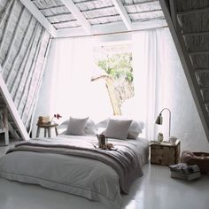 bed on top floor