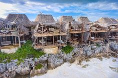 Who doesn't want to stay in a treehouse on a beautiful beach in hot Mexico? Azulik Tulum hotel makes your dreams come true!