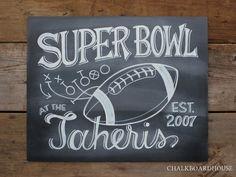 football chalkboard sign - Google Search