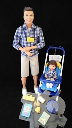 Barbie - Happy Family - Alan & Ryan Dolls - Dad & Son w/Stroller (2002) http://stores.ebay.co.uk/Kelteckie-Dolls