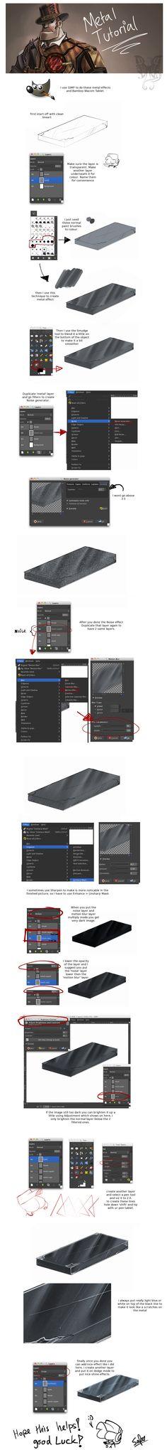 Tutorial: Metal effects in GIMP by DarkLitria.deviantart.com on @DeviantArt